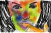 Cartoon: painting (small) by anupama tagged thz,digital,painting,done,in,corelpainter
