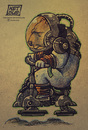 Cartoon: Space Bear (small) by ketsuotategami tagged traditional,art,fantasy