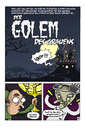 Cartoon: Der Golem des Grauens (small) by Schoolpeppers tagged horror,frankenstein,blofeld,mabuse
