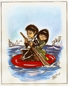 Cartoon: caos japones (small) by DANIEL EDUARDO VARELA tagged diciplina