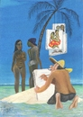 Cartoon: Gauguin - male mal was Anderes! (small) by tiede tagged gauguin,maler,postimpressionismus,tahiti,südsee,tiedemann,tiede