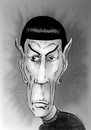 Cartoon: Mr. Spock (small) by Guto Camargo tagged startrek,spock,minoy,movie,science,fiction,actor,caricature
