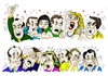 Cartoon: Two Moments  - 2 momentos (small) by Guto Camargo tagged people,raiva,rostos,pessoas