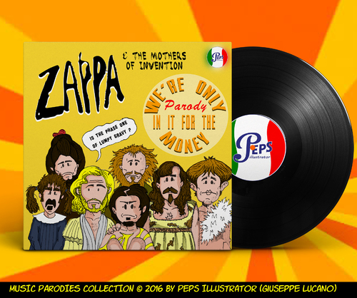 Cartoon: Zappa Parody (medium) by Peps tagged zappa,money,mother,funk,music,rock,progressive