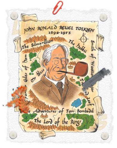 Cartoon: Tolkien (medium) by Ludus tagged tolkien
