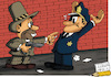 Cartoon: Gangster life (small) by Ludus tagged gangster,crime,policeman