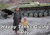 Cartoon: Happy Tanks Giving Day (small) by Ludus tagged war
