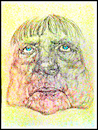 Cartoon: Merkel 1 (small) by Remo37 tagged caricature,drawing