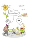 Cartoon: Rendevouz (small) by BuBE tagged rendevouz,dating,verabredung,kennenlernen,partner,partnerin,erkennungszeichen