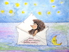 Cartoon: mond verreist (small) by katzen-gretelein tagged igel,mond,urlaub,meer