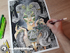 Cartoon: Drawing Apep - Dark Art (small) by Art by Mihai Alin Ion tagged drawing,illustration,painting,apep,mihaialinion,darkart,art,abstract,pencidrawing,horror,snake