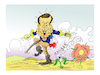 Cartoon: Emmanuel MACRON (small) by vasilis dagres tagged macron,and,working,rights