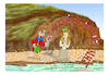 Cartoon: LOVE IN  SANTORINI (small) by vasilis dagres tagged greece,summer,holidays