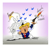 Cartoon: TRUMP for Tzortz-Floint (small) by vasilis dagres tagged usa,racism,state,violence