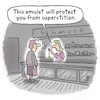 Cartoon: Superstition (small) by Lo Graf von Blickensdorf tagged superstition,amulet,chain,esoterik,cartoon,shop,woman,ladies,schmuck,faith,true,saleswoman,business,lie