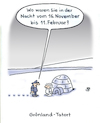 Cartoon: Tatort (small) by Lo Graf von Blickensdorf tagged krimi,alibi,tatort,kommissar,iglu,inuit,eskimo,norpol,polarnacht,grönland,polizei,verhör,vernehmung,karikatur,cartoon,humor,lo