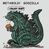 Cartoon: godzilla (small) by takeshioekaki tagged godzilla