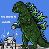 Cartoon: you can do it! (small) by takeshioekaki tagged godzilla,japan