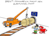 Cartoon: Tünnel (small) by Bregenwurst tagged brexit,eu,frankreich,england,eurotunnel,korken