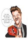 Cartoon: Chris Jericho (small) by Thomas Vetter tagged chris,jericho