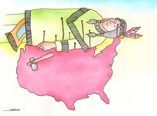 Cartoon: USA (medium) by saoud tagged usa