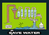 Cartoon: Water in treatment plants (small) by APPARAO ANUPOJU tagged water,treatment,plant