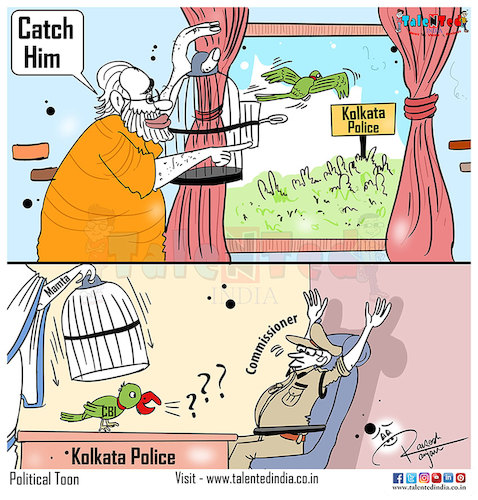Cartoon: Today Cartoon Government Parrot (medium) by Talented India tagged cartoon,talented,talentedindia,talentednews,talentedcartoon