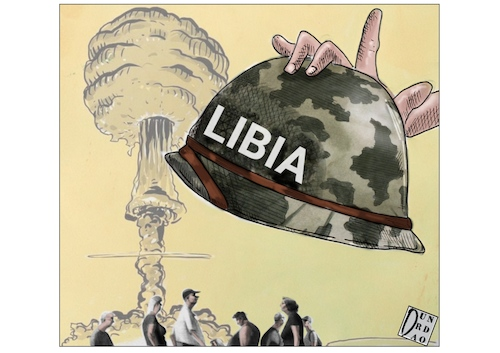 Cartoon: La guerra in Libia (medium) by Christi tagged libya,turkish,haftar,sarraj,innocent,civilians