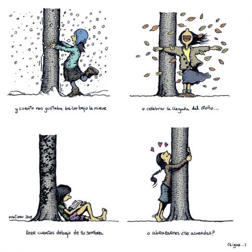 Cartoon: Abraza arboles 2 de 4 (medium) by mortimer tagged mortimer,mortimeriadas,cartoon,arbol,treebeing,deforestation,tree,hugger,abraza,arboles,abrazarboles,comic,ecologia