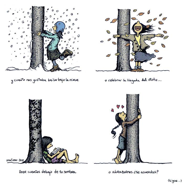 Cartoon: Abraza arboles 2 de 4 (large) by mortimer tagged mortimer,mortimeriadas,cartoon,arbol,treebeing,deforestation,tree,hugger,abraza,arboles,abrazarboles,comic,ecologia