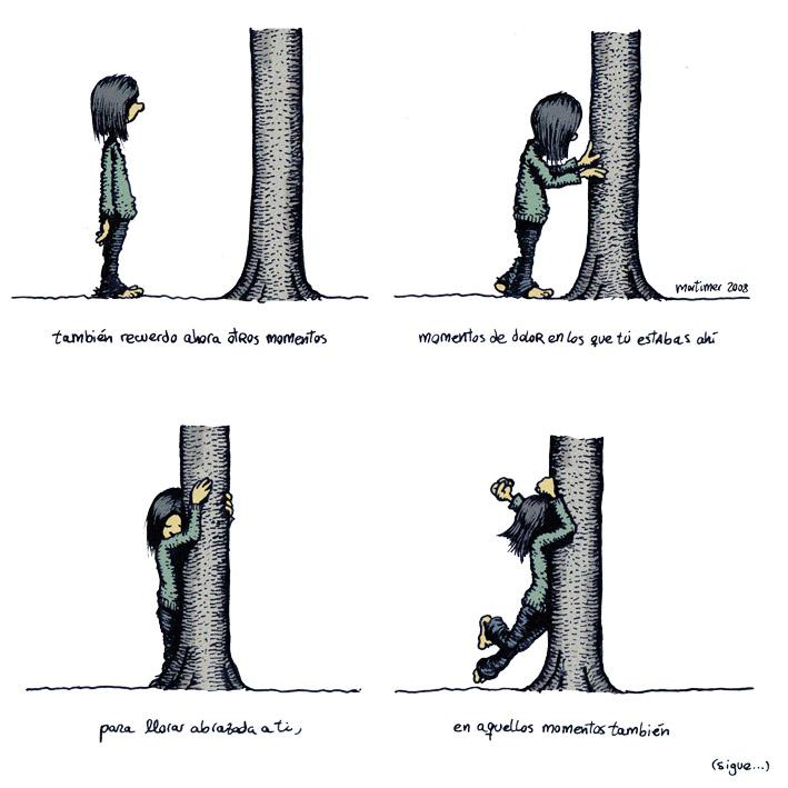 Cartoon: Abraza arboles 3 de 4 (large) by mortimer tagged mortimer,mortimeriadas,cartoon,arbol,treebeing,deforestation,tree,hugger,abraza,arboles,abrazarboles,comic,ecologia