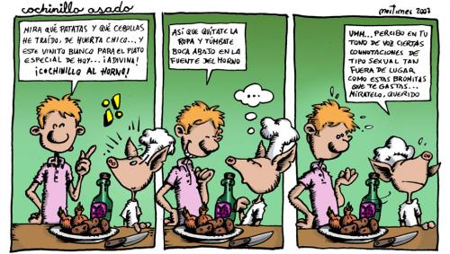 Cartoon: La nueva cocina (medium) by mortimer tagged mortimer,mortimeriadas,cartoon,comic,strip,cocina,cocineros,nueva