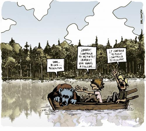 Cartoon: Norman and Barry (medium) by mortimer tagged mortimer,mortimeriadas,lake,woods,bears