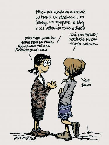 Cartoon: Un mundo maravilloso (medium) by mortimer tagged mortimer,mortimeriadas,cartoon,mundo,maravilloso