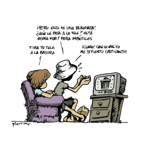 Cartoon: Un mundo maravilloso (medium) by mortimer tagged mortimer,mortimeriadas,cartoon,comic,television,tv,trash