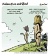 Cartoon: adam eve and god 06 (small) by mortimer tagged mortimer,mortimeriadas,cartoon,comic,gag,adam,eve,god,bible,paradise,eden,biblical,christian,original,sin,sex,nude,toons,hairy,belly,blonde,snake,apple