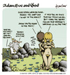 Cartoon: Adam Eve and God 14 (small) by mortimer tagged mortimer,mortimeriadas,cartoon,comic,gag,biblical,adam,eve,god,snake,bible,christian,holy,leaf,sex,love,erotic,hairy,belly,blonde,flowers,paradise,eden,original,sin
