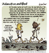 Cartoon: Adam Eve and God 39 (small) by mortimer tagged mortimer mortimeriadas cartoon comic biblical adam eve god snake paradise bible