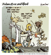 Cartoon: Adam Eve and God 44 (small) by mortimer tagged mortimer mortimeriadas cartoon comic biblical adam eve god snake paradise bible