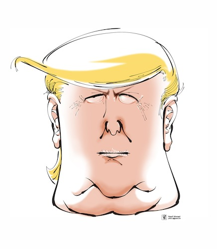 Cartoon: Donald Trump (medium) by Nasif Ahmed tagged donaldtrump,trump,caricature,cartoon,bangladeshcartoonist,nasif,nasifahmed