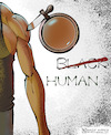 Cartoon: Human (small) by Nasif Ahmed tagged racism,blacklivesmatter,georgefloyde,humanity,black,peopleofcolor,discrimination