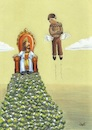 Cartoon: Dictatorship of Money (small) by menekse cam tagged dictatorship,money,king,chair,poor,man,empty,pocket,wings
