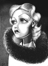 Cartoon: Jean Harlow (small) by menekse cam tagged jean,harlow,us,american,actress,kansas,los,angeles,harlean,carpenter,cinema,movie,film,portrait