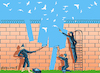 Cartoon: Wall (small) by Vladimir Khakhanov tagged desire