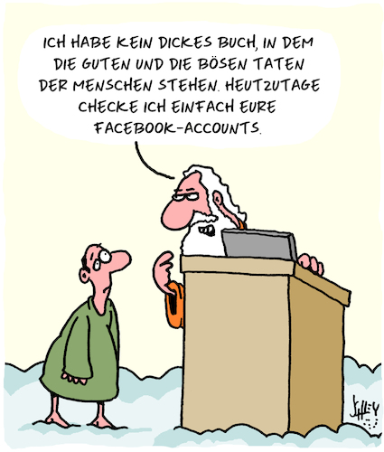 Cartoon: Gut und Böse (medium) by Karsten tagged religion,petrus,himmelstor,sünden,datensicherheit,facebook,internet,computer,technik,religion,petrus,himmelstor,sünden,datensicherheit,facebook,internet,computer,technik