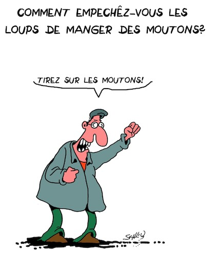 Cartoon: Loups et Moutons (medium) by Karsten tagged mouton,loups,betes,environnement,elevage,sexe,politique,mouton,loups,betes,environnement,elevage,sexe,politique