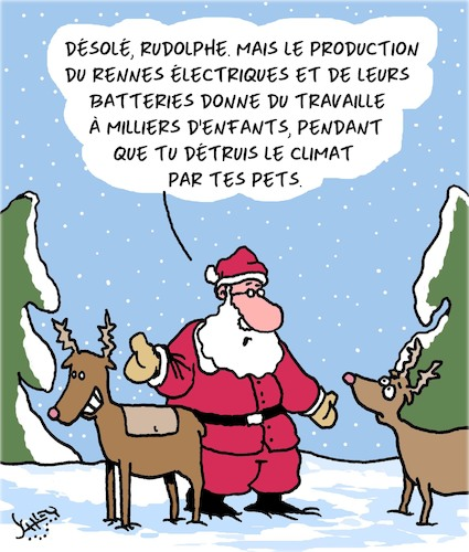 Cartoon: Rennes (medium) by Karsten tagged noel,animaux,climat,environnement,pets,politique,electricite,noel,animaux,climat,environnement,pets,politique,electricite