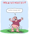 Cartoon: Aidez les Insectes ! (small) by Karsten tagged environnement,insectes,agriculture,pollution,climat,secheresse,politique