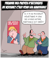 Cartoon: Amateurs (small) by Karsten tagged accidents,voitures,genetique,spectateurs,curiosite