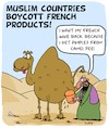 Cartoon: Boycott (small) by Karsten tagged politics,france,economy,boycotts,industry,religion,muslims,media,caricatures